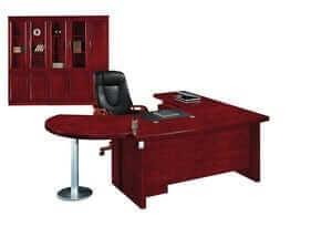 Neptune Executive Desk Credenza + Pedestal