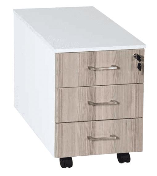 3 Drawer Mobile Pedestal Central Locking