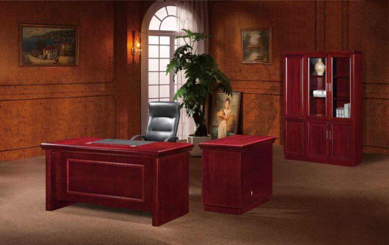 Atlantic Executive Desk – 3 Piece Veneer Table