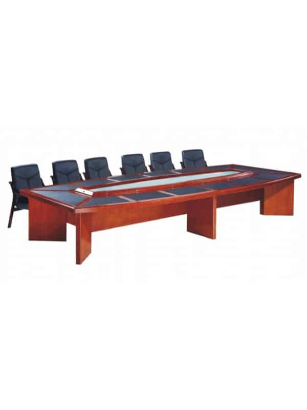 barell legs boardroom table rosewood 20 seater