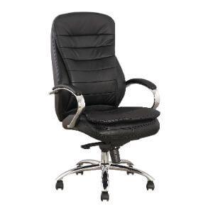 Luvitt Executive Chrome Chair – Genuine leather