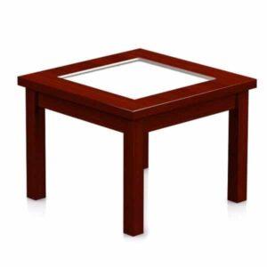 alpha coffee table side glass