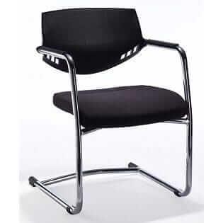 auriga black backrest integral frame chrome