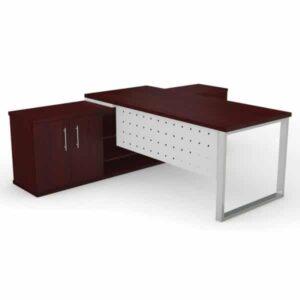 dakota desk square leg with modesty