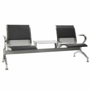 silverline heavy duty standard steel 2 seater table
