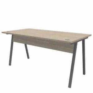 a frame desk grey frame