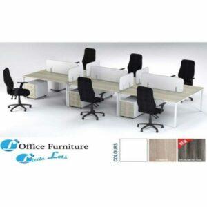 Furnitur Connect 6 Way Computer Desks