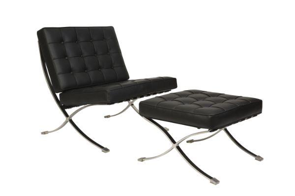 Barcelona – Von Der Rohe 1 Seater Leather Couch