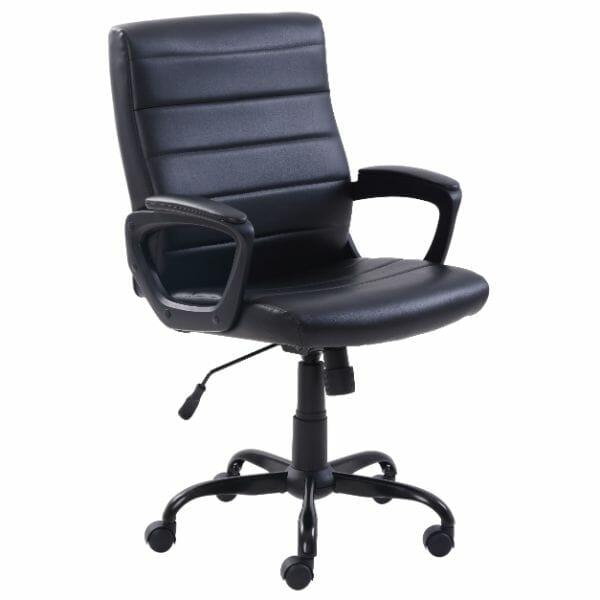 Rocket Operators Leather Office Chair – Medium Back PU Frame