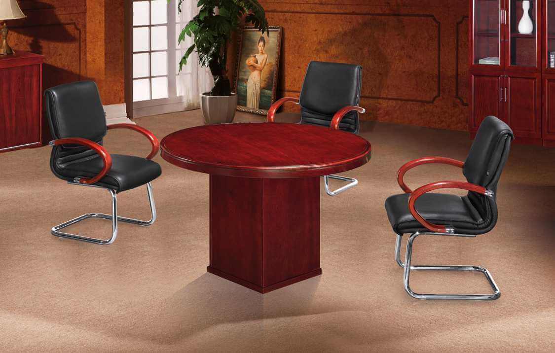 Round Veneer Boardroom Table