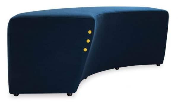 Concave Ottoman Blue