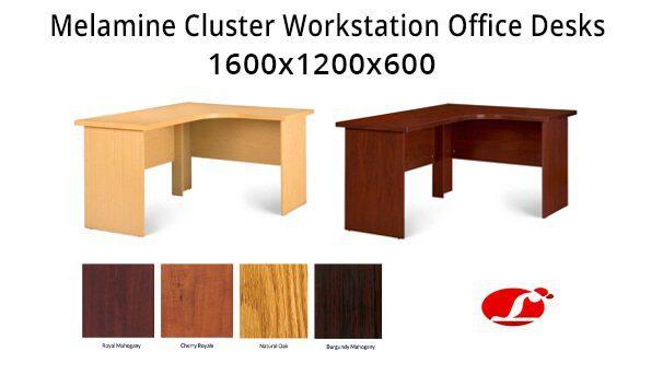 L Shaped Cherry Desk