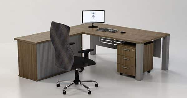 Trim Executive Desk | L Shaped Managerial Desk
