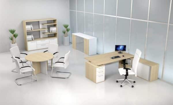 Envy Executive Desk Roller Door Credenza