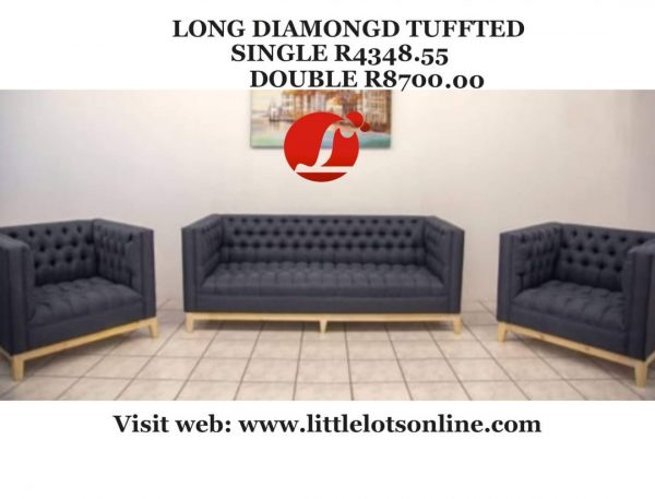 long diamond tuffted couches sale