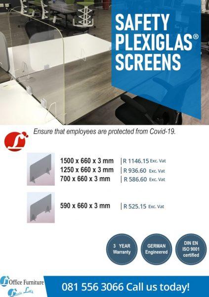Clear Protective Desk Shield