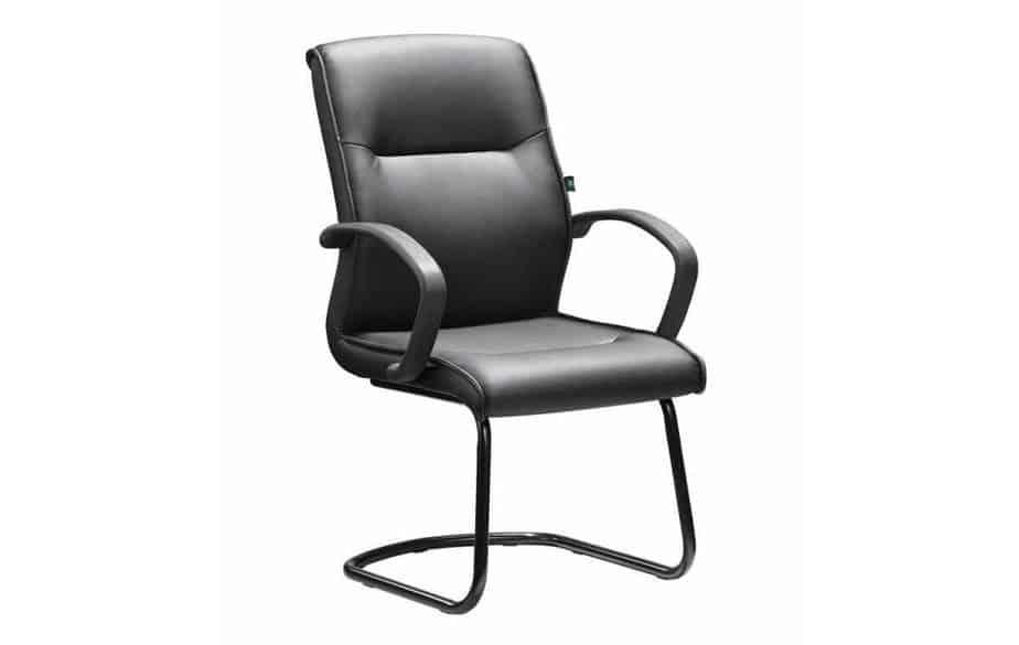 DB042B Pu Leather Sleigh Base Chair