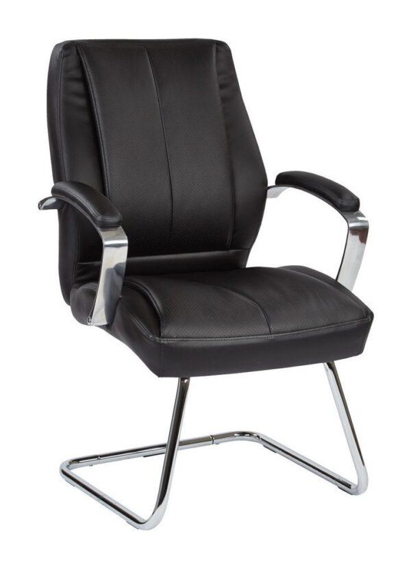 Sleigh Base Chrome Visitors Chair