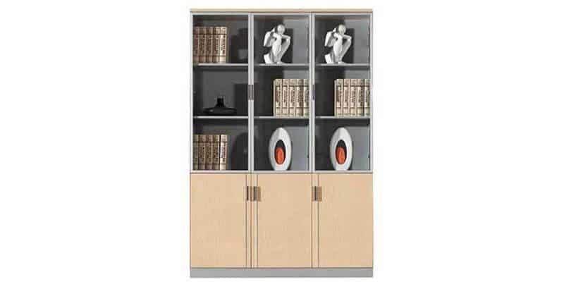 3 Door Wall Unit Open Shelves