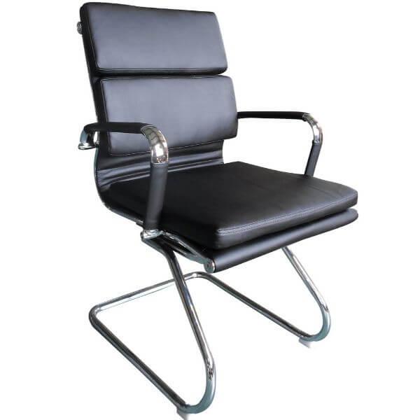 Classic Eames PU Cushion Visitor Black