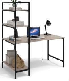 Home Study Frame Desk 4 Shelves