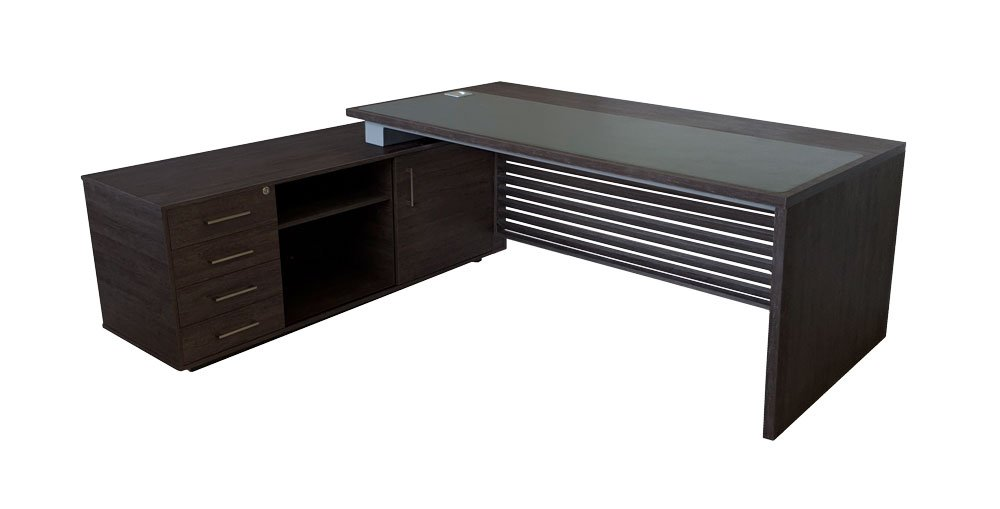 Le-Troy Series 500 – Aged Stone | Executive Office Desk