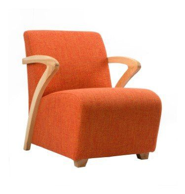 Oxygen Wooden Arms Occasional Chair